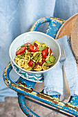 Orecchiette salad with courgette and marjoram pesto