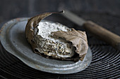Blue cheese with oak leaves