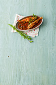 Triglie in salsa agrodolce (red mullet in a sweet-and-sour sauce, Italy)