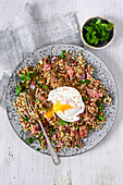 Ham Hock Hash with poached egg