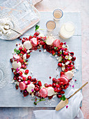 Eton Mess Wreath with Macarones
