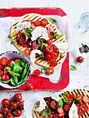 Grilled Mozzarella and Salami Piadina