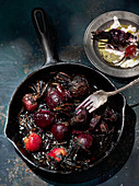 Roasted beetroot in a pan