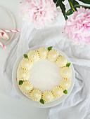 Cheesecake with white chocolate cream