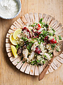 Char-Grilled Vegetable, Chicken and Couscous Salad