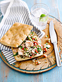 Tuna and Tabbouleh Rolls