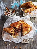 Banana, Chocolate and Almond Toastie