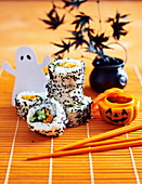 Halloween Inside-out sushi (vegeterian)