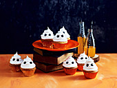 White-chocolate ghost cupcakes