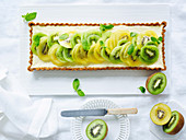 Kiwifruit Green and Gold cheesecake