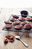 Bittersweet chocolate cappuccino tarts