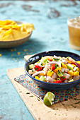 Ceviche with mango and vegetables
