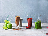 Refreshing shakes and smoothies