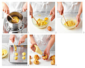 Baking Choux Puffs with vanilla cream