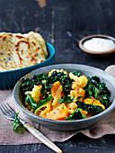 Pumpkin and cauliflower yellow curry