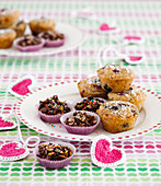 Gluten-free Chocolate and Fruit Crackles and Berry Cupcakes