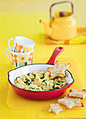 Gluten Free Cheesy Scrambled Eggs with Spinach