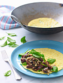 Beef and Mushroom Omelette