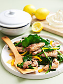 Lemon Chicken with Asian Greens