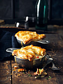 Pot pies with chanterelles