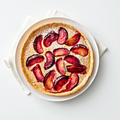 Plum tart with a hazelnut glaze