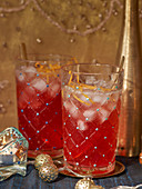 Pomegranate and orange cocktaisl with gin (Christmas)