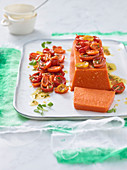 Oevn-baked tomato terrine with tomato confit