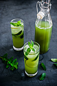 Cucumber and mint drink