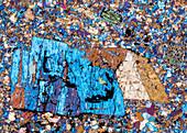Rhyolith Traisen 119-5 PPol 60x - Rhyolith, Dünnschliff, 60:1