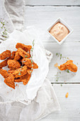 Chicken nuggets with chili mayonnaise