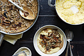Polenta With Mushrooms and Soy