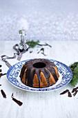 Schokoladengugelhupf zu Weihnachten