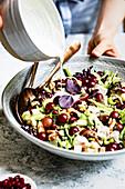Waldorf Chicken Salad being prepared