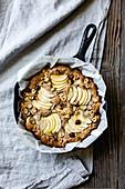 Apple Hazelnut Skillet Cake
