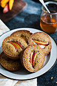Financier muffins with nectarine (France)