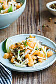 Mint Jicama Cantaloupe Salad with Toasted Pepitas