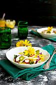 Summer Vegetable Italian Style Salad with Tangerine Vinaigreete