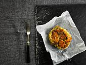Welsh Cake mit Caerphilly-Käse und Lauch
