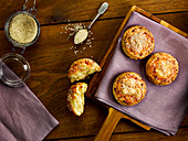 Welsh cheese scones with sesame seeds