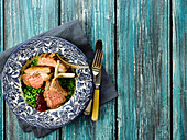 Lamb Chops With Crushed Minted Peas