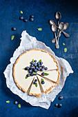 Panna Cotta Tart with blueberries