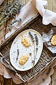 Hazelnut and lavender biscuits