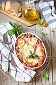 Parmigiana Lasagne mit Auberginen