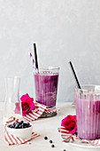 Violet Blueberry Latte