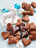 Heart shaped Christmas cookies, Switzerland