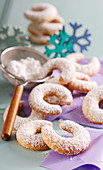 Vanilla crescents for Christmas