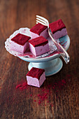 Cassis mellows dusted with cassis powder