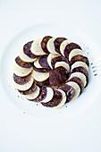 La ratte potatoes and black truffles