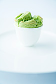 A mini avocado soufflé
