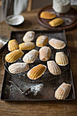 Madeleines on tray